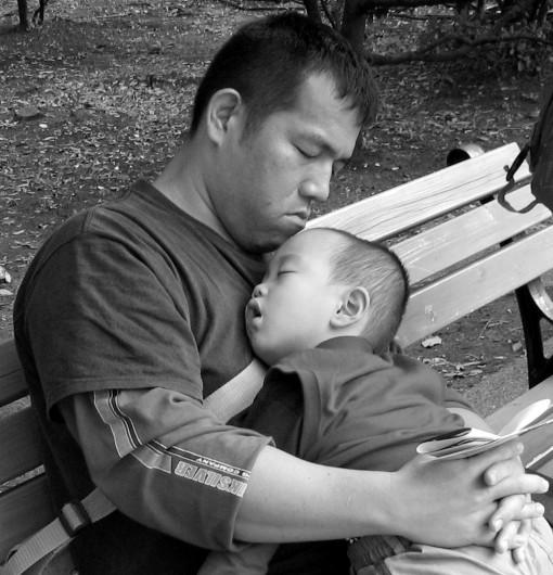 Father & Son.  Hibiya Park.  Tokyo.  2007.