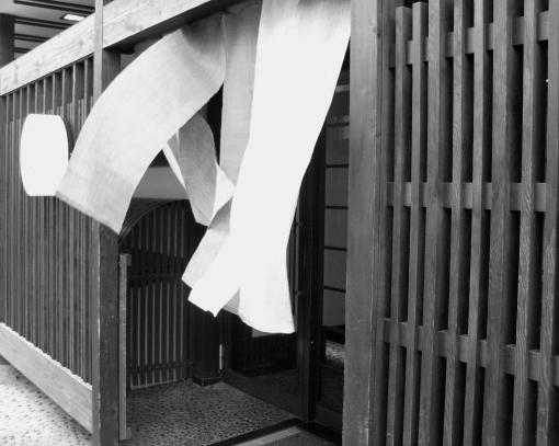Noren in the breeze.  Kyoto shop.  2008.