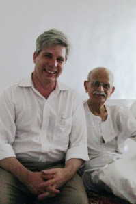 Me with Mumbai Businessman and Part-time Gandhi Impersonator, Mr. Mohan Jhangiani.  April 24, 2008.