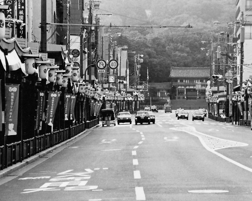 Early Morning.  Gion Matsuri.  July 2004.