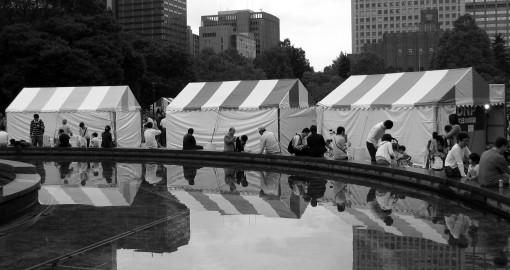 Hibiya Matsuri Tents.  Tokyo.  2007.