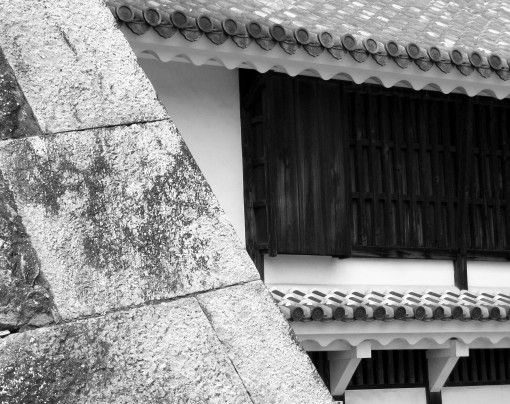 Himeji Castle detail.  Himeji.  2008.