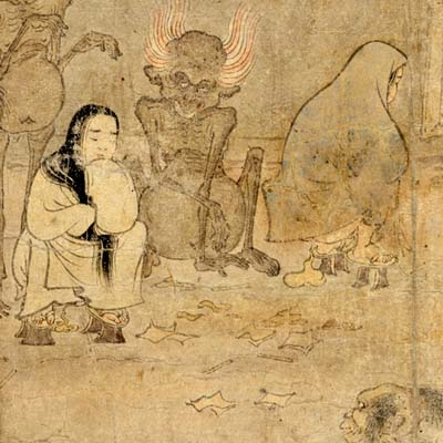 """Gaki"", or Hungry Ghosts.  Late 12th Century."