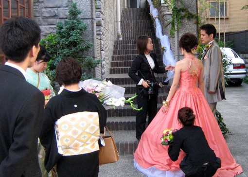 Wedding Photos.  Niomon Street.  Kyoto.  2007.