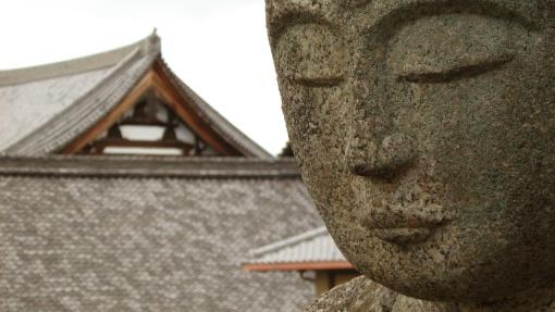 Stone Buddha at Kurodani Temple, Okazaki District, Kyoto.  2007.