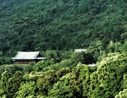 Looking towards Nanzen-ji Temple, Kyoto. 31 July 2011.