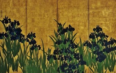 Korin (1658-1716). Irises.