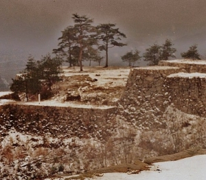 Takeda Castle Ruins. Winter 1990.
