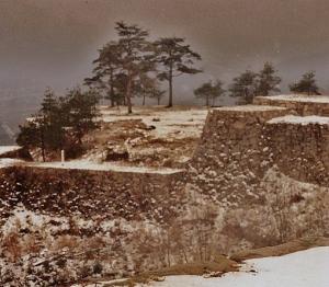 Takeda Castle Ruins. Winter 1990.